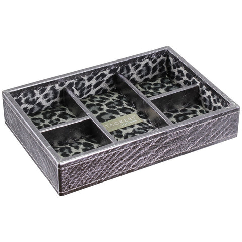 Stackers Pewter Effect Mini 5 Section Stacker Jewellery Tray