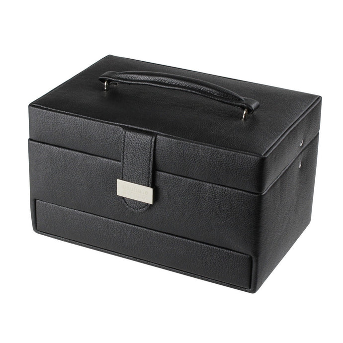 Black Cantilever Jewellery Box with Travel Box