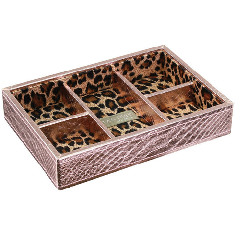 Stackers Mini Rose Gold 5 Section Stacker Jewellery Tray