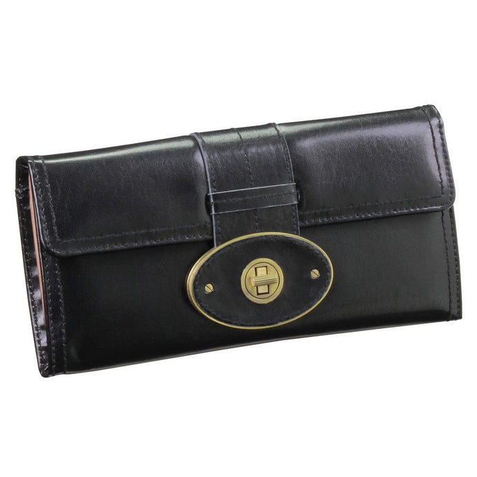 Dulwich Designs Leather Heritage Black Jewellery Roll