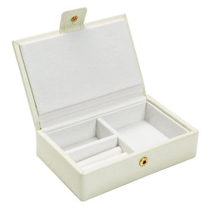 Dulwich Designs Leather Cream Extra Large Jewellery Box