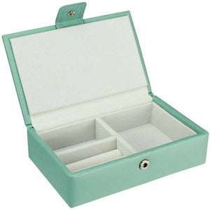 Dulwich Designs Leather Duck Egg Blue Extra Large Jewellery Box
