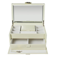 Dulwich Designs Leather Cream Large Jewellery Box