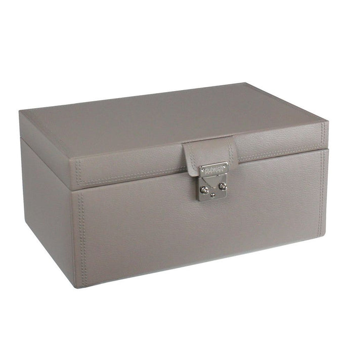 Dulwich Designs Leather Mink Large Jewellery Box