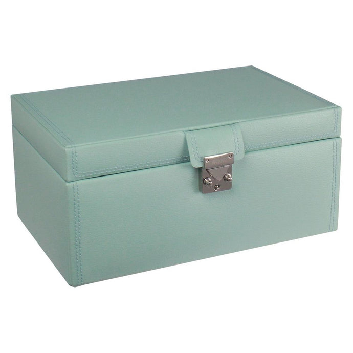 Dulwich Designs Leather Duck Egg Blue Large Jewellery Box