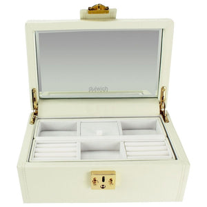 Dulwich Designs Leather Cream Jewellery Box