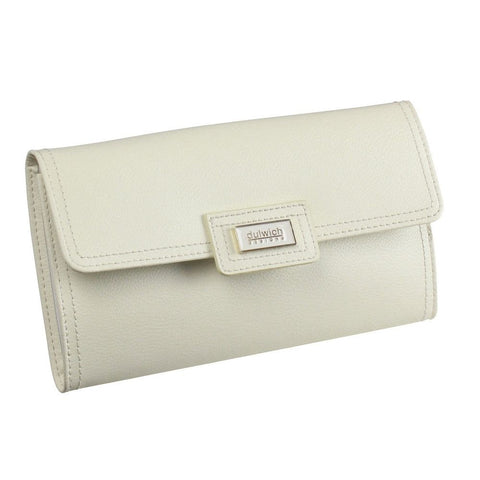 Dulwich Designs Leather Cream Jewellery Roll