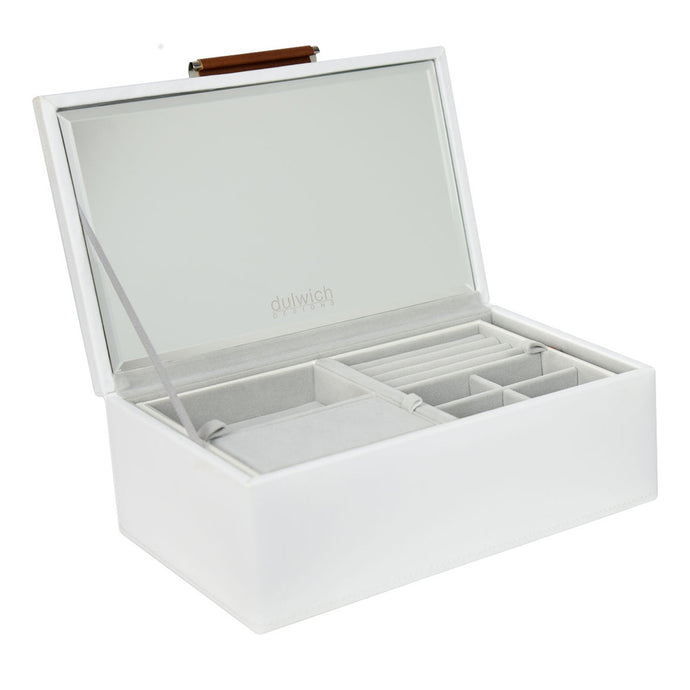 Dulwich Designs Tuscany White/Tan Small Jewellery Box