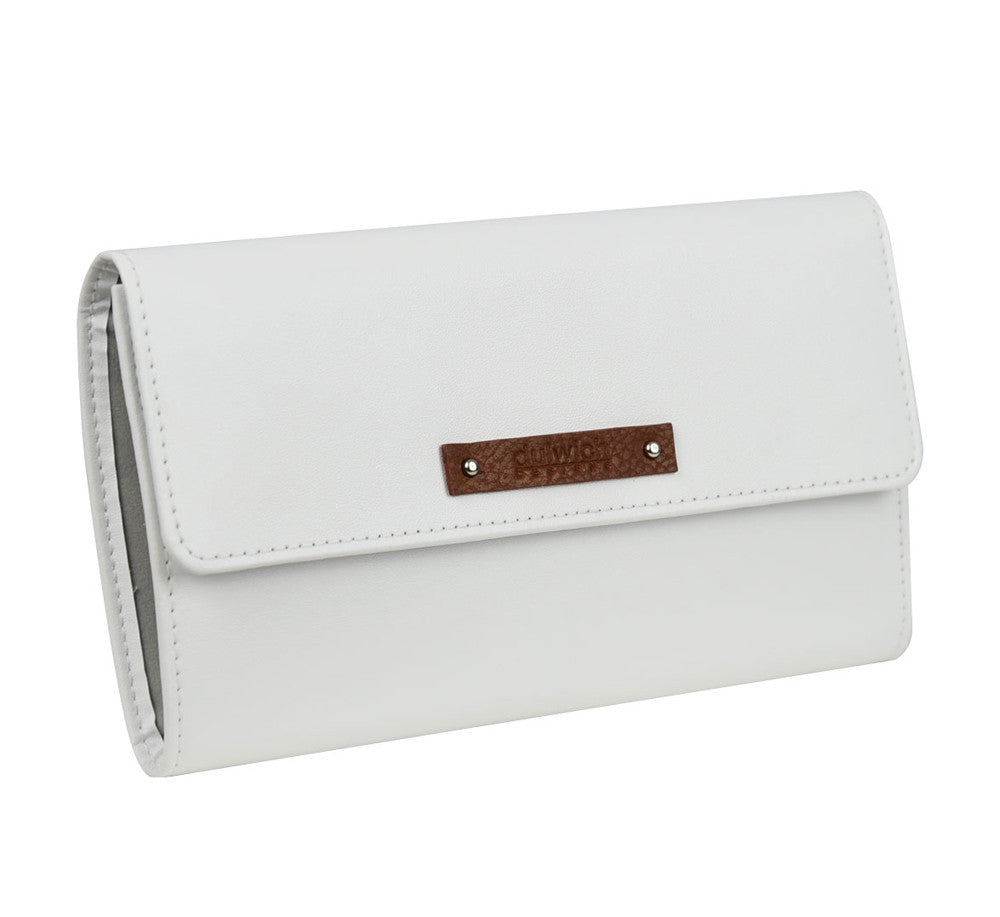 Dulwich Designs Tuscany White/Tan Jewellery Roll