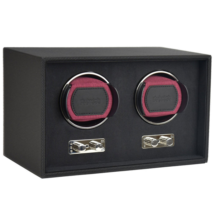 Dulwich Design Double Watch Rotator - Burgundy