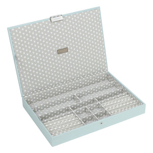 Stackers Duck Egg & Grey Supersize Lidded Jewellery Tray