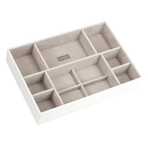 Stackers White & Grey Supersize Deep Sectioned Jewellery Tray