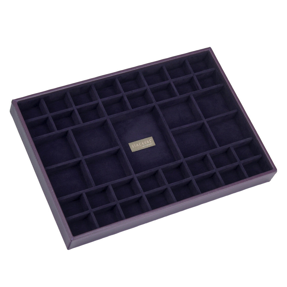 Stackers Purple & Purple Supersize 41 Section Jewellery Tray