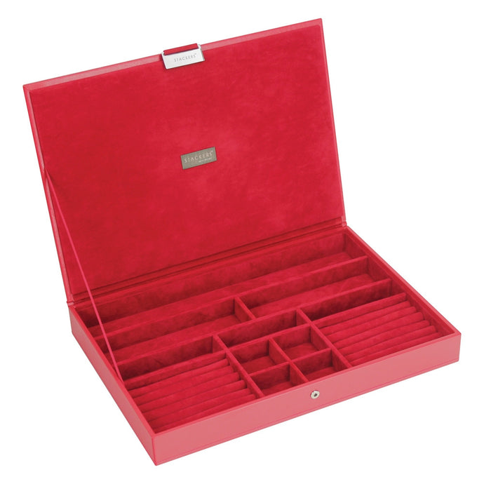 Stackers Red & Red Supersize Lidded Jewellery Tray