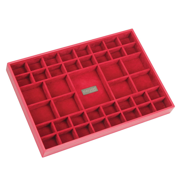 Stackers Red & Red Supersize 41 Section Jewellery Tray