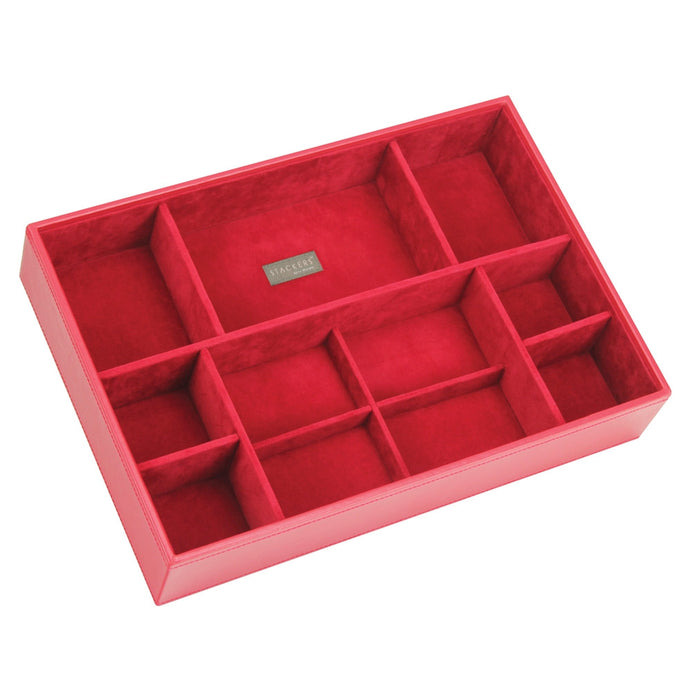 Stackers Red & Red Supersize Deep Sectioned Jewellery Tray