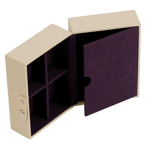Stackers Cream & Purple Travel Box Tray Insert