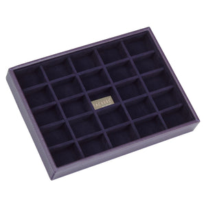 Stackers Purple & Purple Classic 25 Section Jewellery Tray