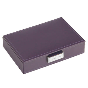 Stackers Purple & Purple Mini Lidded Jewellery Tray