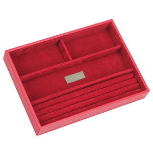 Stackers Red & Red Classic 4 Section Jewellery Tray