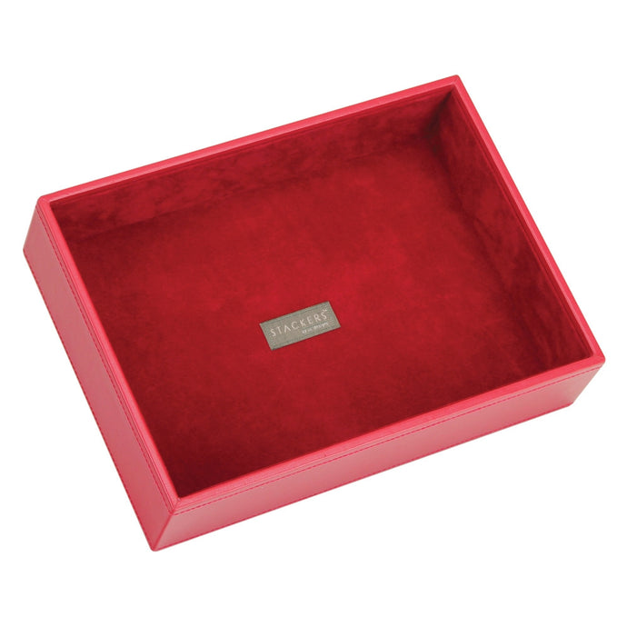 Stackers Red & Red Classic Deep Open Jewellery Tray