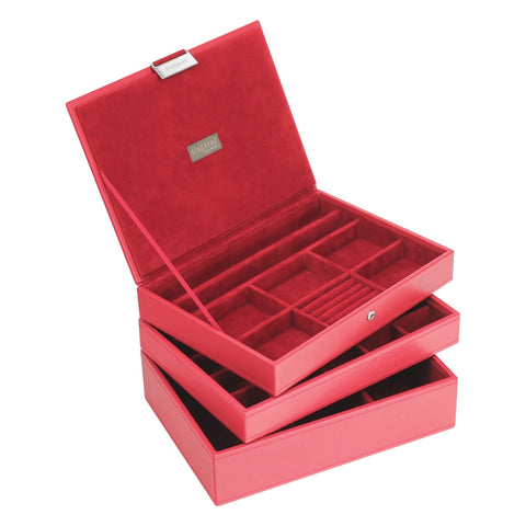 Stackers Red & Red Classic Set of 3 Jewellery Trays