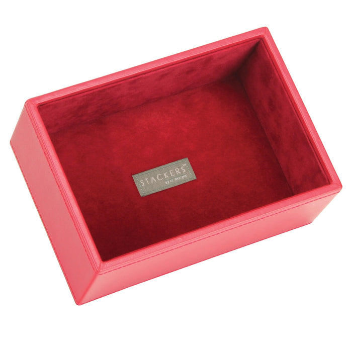 Stackers Red & Red Mini Deep Open Jewellery Tray