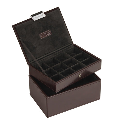 Stackers Gents Exec Brown Set of 2 Accessory Trays