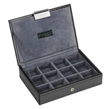 Stackers Gents Exec Black Lidded Cufflink Tray