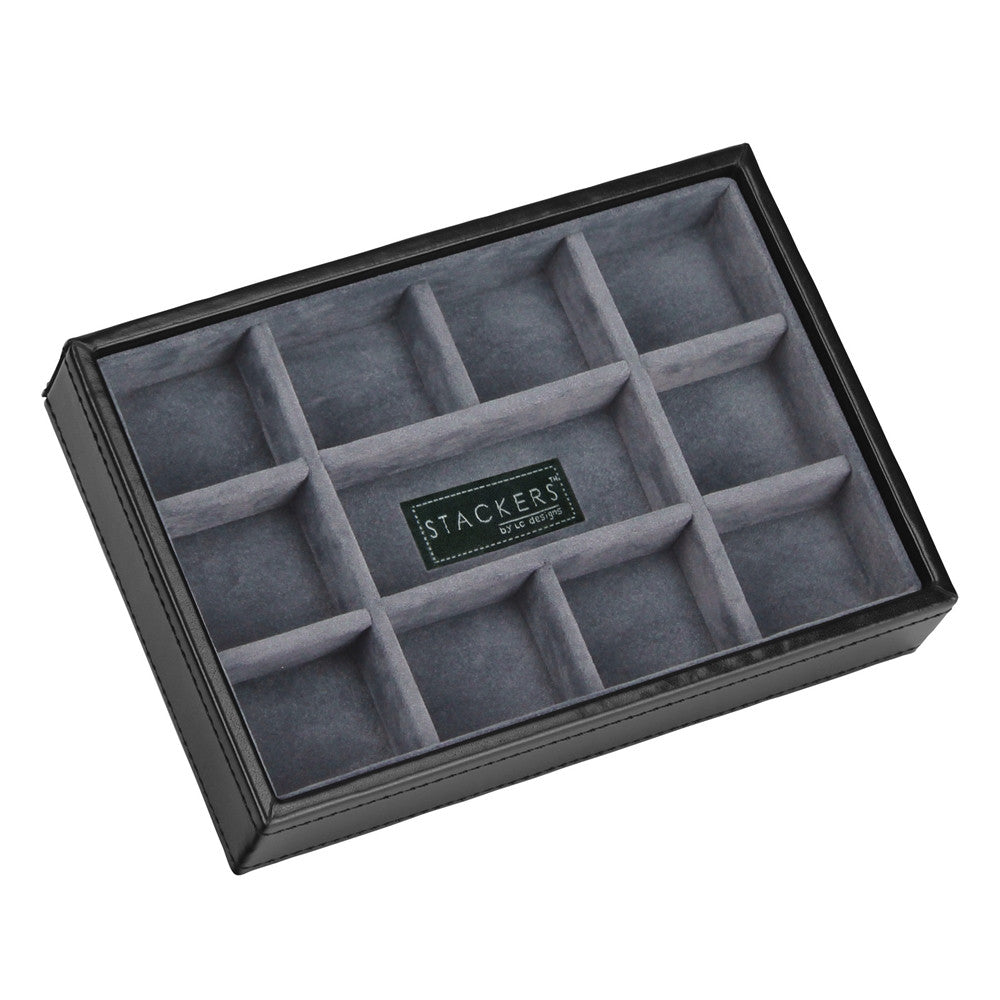 Stackers Gents Exec Black 11 Section Cufflink Tray
