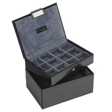 Stackers Gents Exec Black Set of 2 Accessory Trays