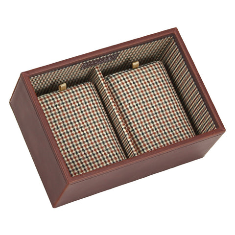 Stackers Gents Tan/Check Deep Watch Tray