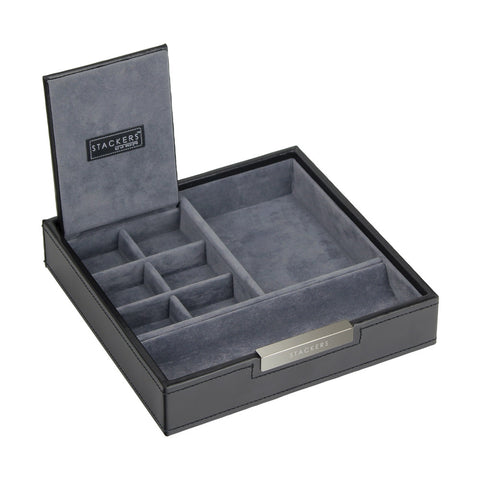 Stackers Gents Square Exec Black Valet Tray