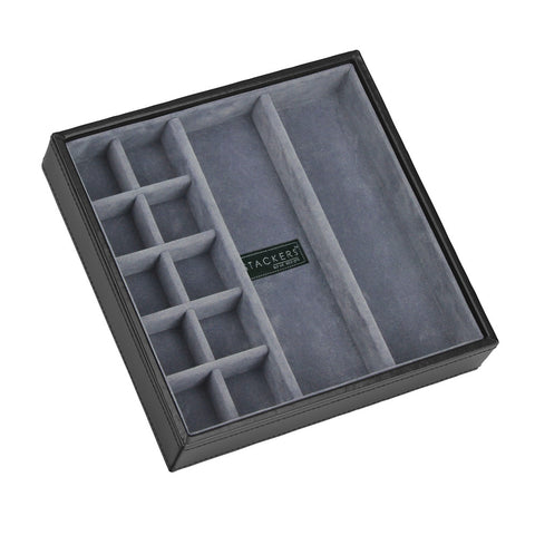 Stackers Gents Square Exec Black Cufflink Tray