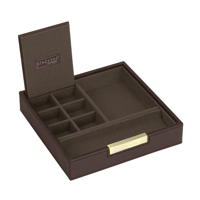 Stackers Gents Square Brown/Khaki Valet Tray
