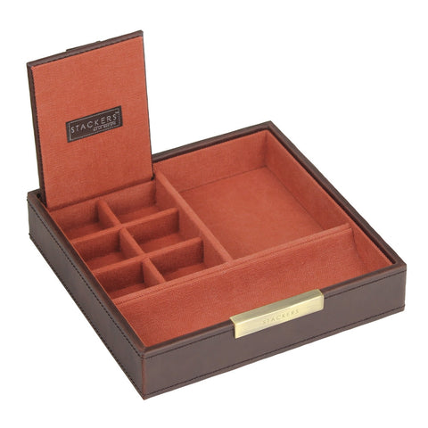 Stackers Gents Square Brown/Orange Valet Tray