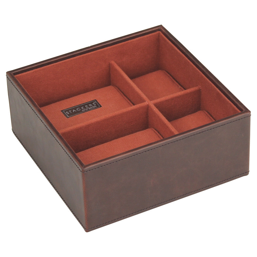 Stackers Gents Square Brown/Orange Watch Tray