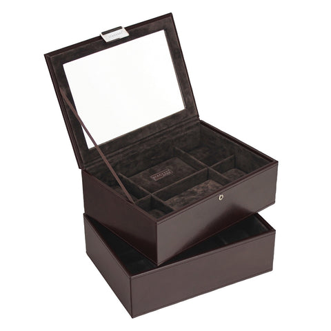 Stackers Exec Brown Set of 2 8 Piece Watch Trays