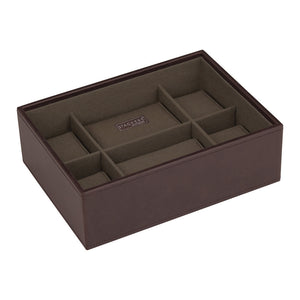 Stackers Brown/Khaki Watch Open 8 Piece Watch Tray