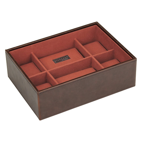 Stackers Brown/Orange Watch Open 8 Piece Watch Tray