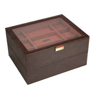 Stackers Brown/Orange Set of 2 15 Piece Watch Trays