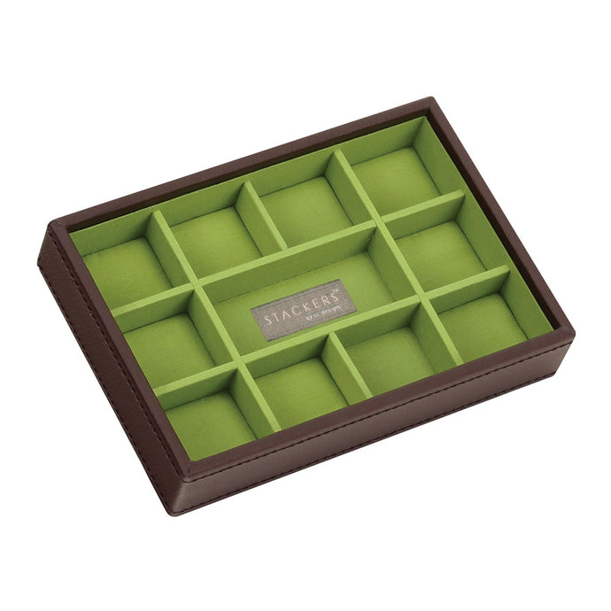 Stackers Chocolate & Brights Mini 11 Section Jewellery Tray