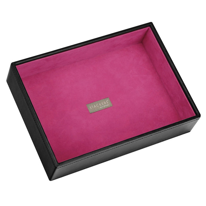 Stackers Black & Fuchsia Classic Deep Open Jewellery Tray