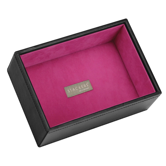 Stackers Black & Fuchsia Mini Deep Open Jewellery Tray