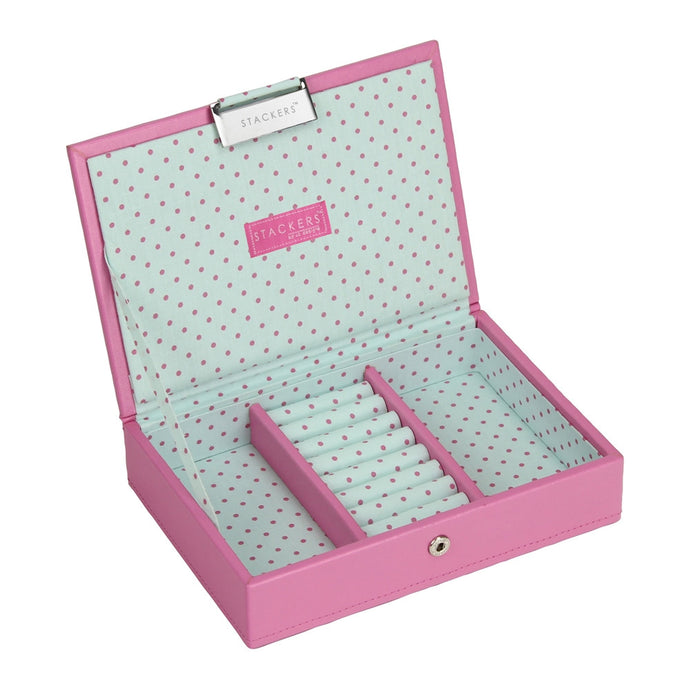 Stackers Junior Polka Dot Lidded Jewellery Tray