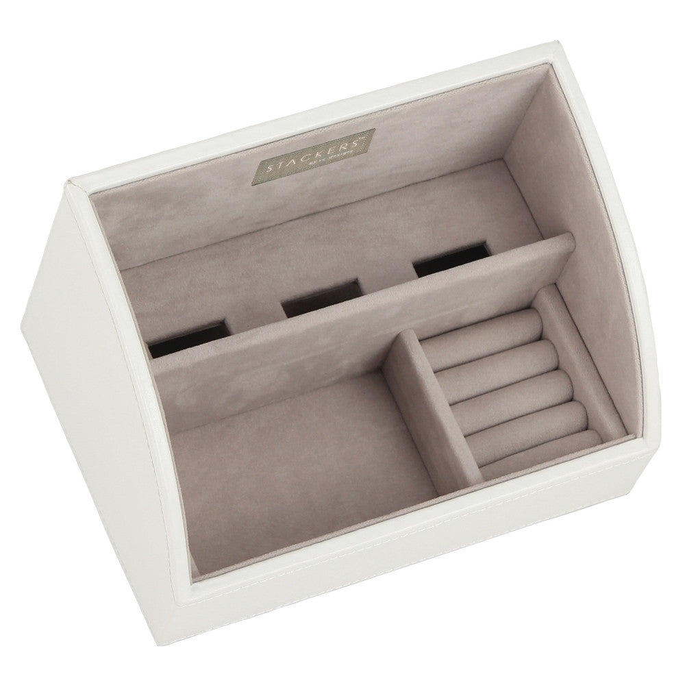 Stackers White & Grey Mobile Friendly Valet Tray