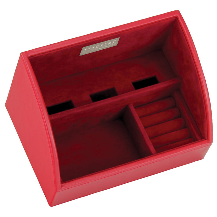 Stackers Red & Red Mobile Friendly Valet Tray