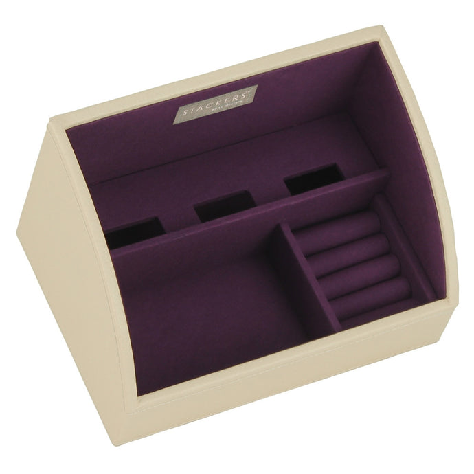 Stackers Cream & Purple Mobile Friendly Valet Tray