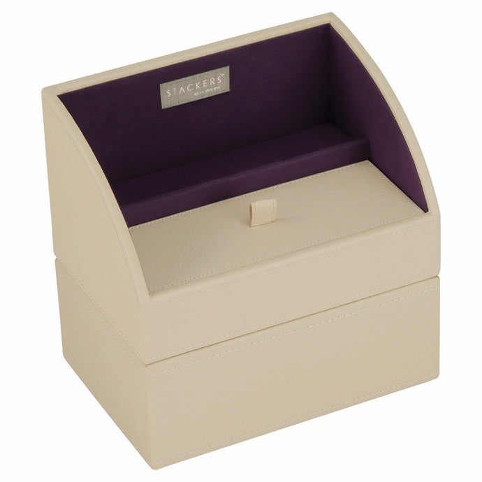 Stackers Cream & Purple Set of 2 Mobile Friendly Trays