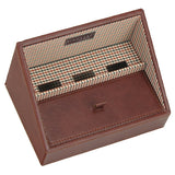 Stackers Gents Tan/Check Valet Tray for Mobile Phones